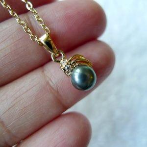 Theadora cultured pearl pendant and chain
